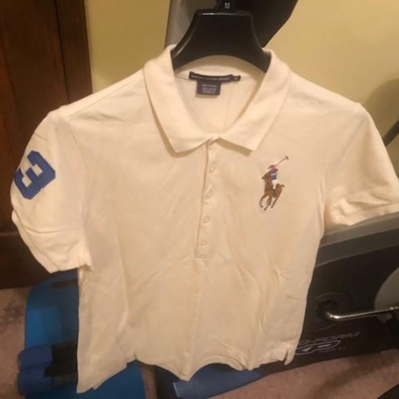 Ralph Lauren Tops - Ralph Lauren Women s Beige Polo Shirt Size XL 1adc52fcb